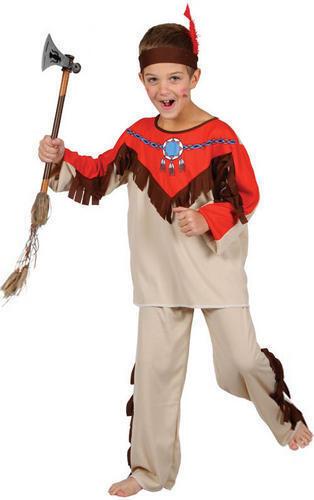 Native Indian Boys Cowboys /& Indians Fancy Dress Up Kids Costume Child Ages 3-10