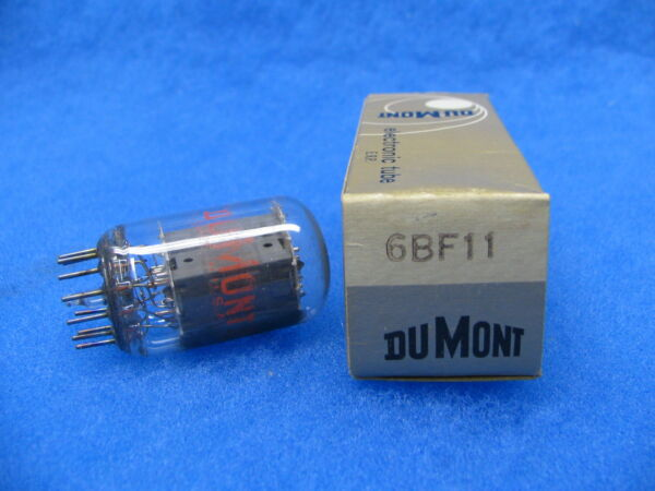 (1) Nos 6bf11 Tube, Dumont - Usa -1960's (clear Top)