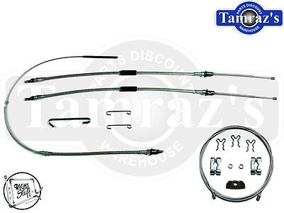 64-67 Emergency Brake Cable Set W// Hardware PG /& Manual Trans OE Material CC06