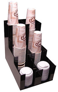 Vertical Coffee Cup Dispenser And Lid Holder Condiment