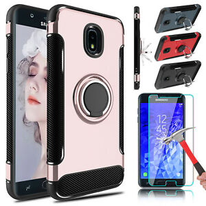 For-Samsung-Galaxy-J7-2018-Crown-Star-Refine-Holder-Case-Cover-Screen-Protector