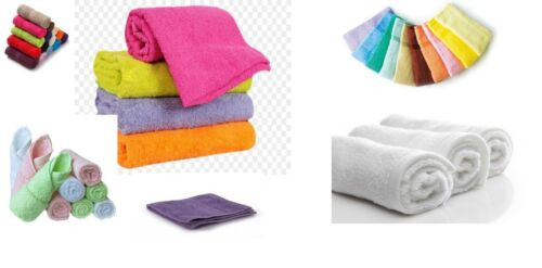 ONLY £0.30 EACH packed 120 pcs JOB LOT OF FACE CLOTHS TOWEL MANY COLORS