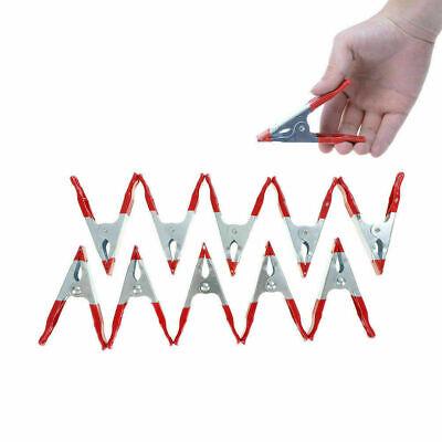 12 MINI METAL SPRING CLAMP GRIP TARP SET MODEL CRAFT MAKING HOLD