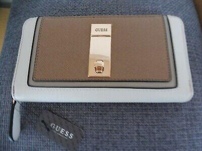 Geldbörse Etuis Portemonnaie Clutch Guess Beige Braun Gold Neu mit Etikett   eBay