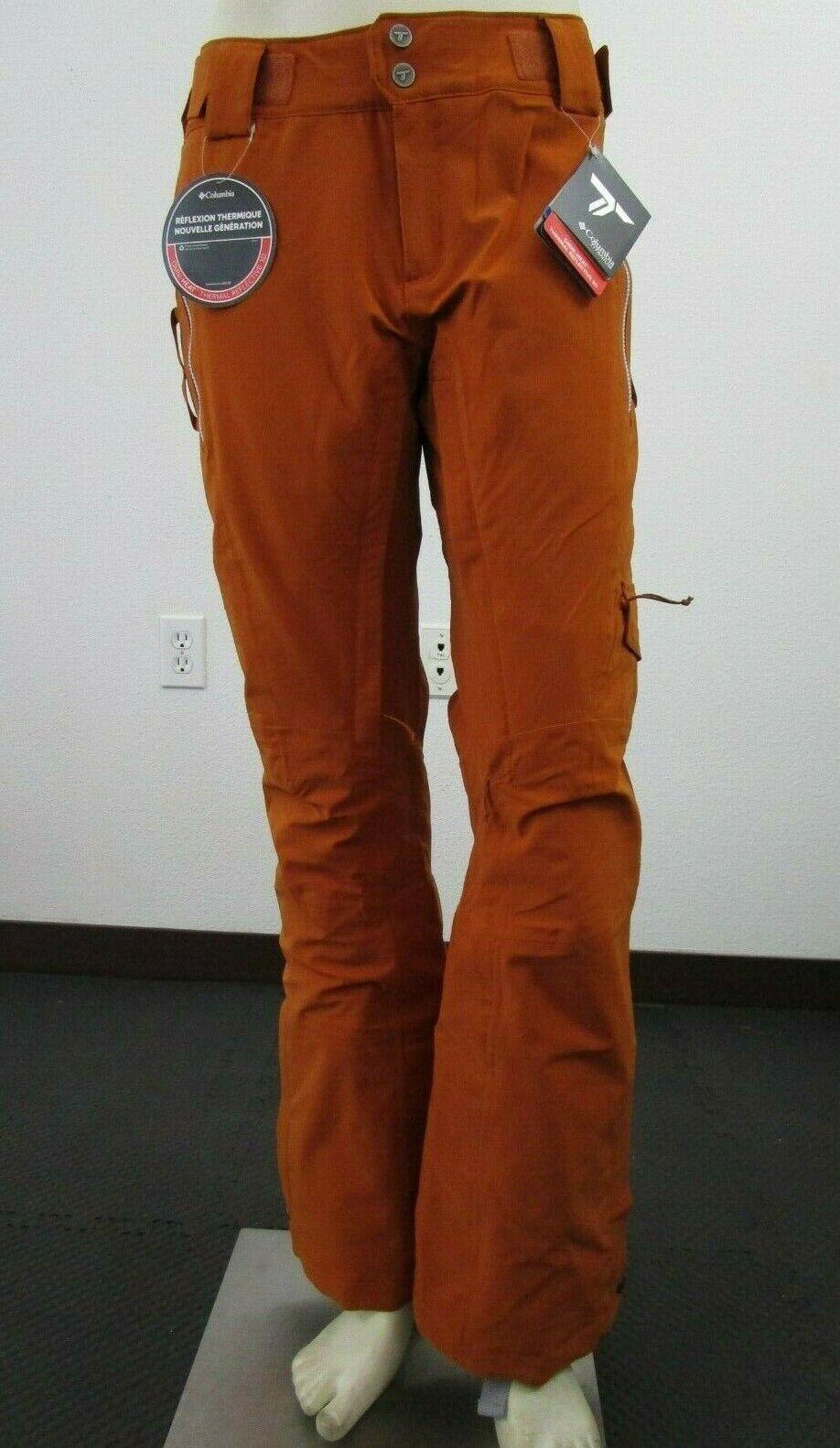 NWT damen Columbia Titanium Powder Keg II Waterproof Insulated Ski Pants Copper