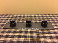 Black Iron Holder For Three Taper Candles - Primitive Style