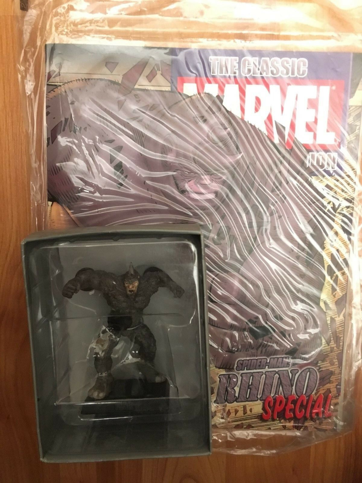MARVEL FIGURINE COLLECTION SPECIAL ISSUE RHINO EAGLEMOSS FIGURE + MAGAZINE