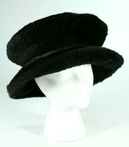 ac773cb0c Details about Ladies Winter Black Faux Fur Mad Hatter Steampunk Top Hat  Size Small