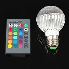 E27 3W LED 16 Color RGB Magic Spot Light Bulb Lamp + Wireless Remote Control