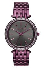 Michael Kors Women's MK3554 Darci Grey Dial Plum Stainless Steel Bracelet Watch