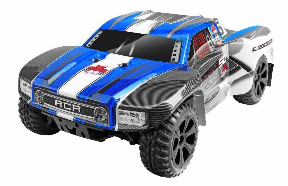 Rojocat Racing-negroout Racing-negroout Racing-negroout SC 1 10 escala eléctrico Camión de pista corta listo para correr, Azul  el mejor servicio post-venta