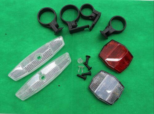 Speichen hinten vorne Fahrrad  Reflektoren Set weiß und rot NEU 5 Stück