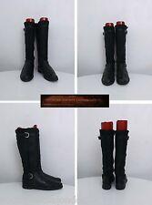 Attilio Giusti Leombruni Black Leather/Real Shearling Boots Italian Made UK6/39