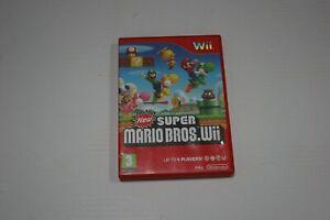 NEW-Super-Mario-Bros-Nintendo-Wii-Huelle-und-Booklets-nur-kein-Spiel