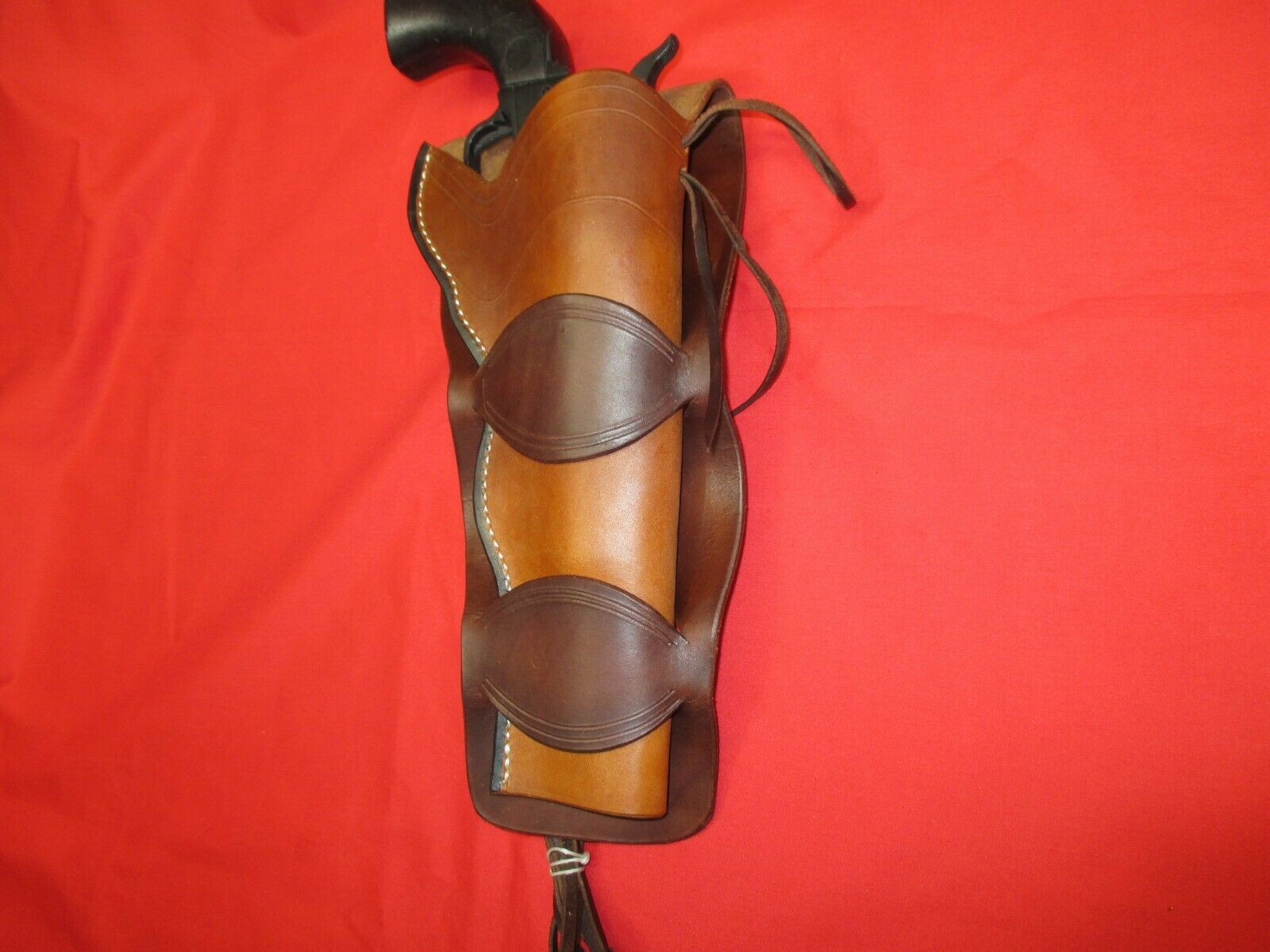 Western Doble Lazo 45 S.A. Funda, línea fina Tooling teñido 2 Tone 7.5  barril
