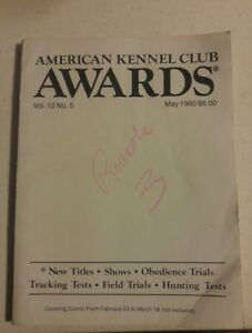 000-VTG-AKC-American-Kennel-Club-Awards-Book-Volume-10-No-5-May-1990