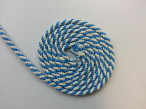 Azul y Blanco 10mm cuerda trenzada de 100/% Algodón Suave Durable Artes Crafts Textiles