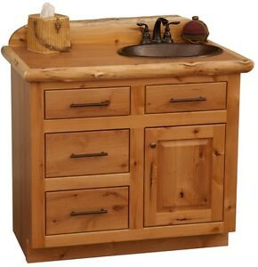 Image Is Loading Custom Rustic Alder Wood Log Cabin Lodge Bathroom