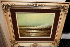 ROBERTSON OCEAN WAVE AND BIRDS ORIGINAL OIL ON CANVAS SEASCAPE PAINTING
