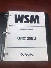 Kubota GR2120 (GR2120EU) Diesel Ride on Mower Tractor WSM Service Manual