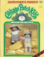 Cabbage Patch Kids Crocheted Outfits Xavier Roberts Crochet Pattern Book