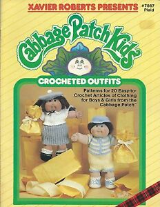 Cabbage-Patch-Kids-CROCHETED-OUTFITS-Xavier-Roberts-Crochet-Pattern-Book-NEW-OOP