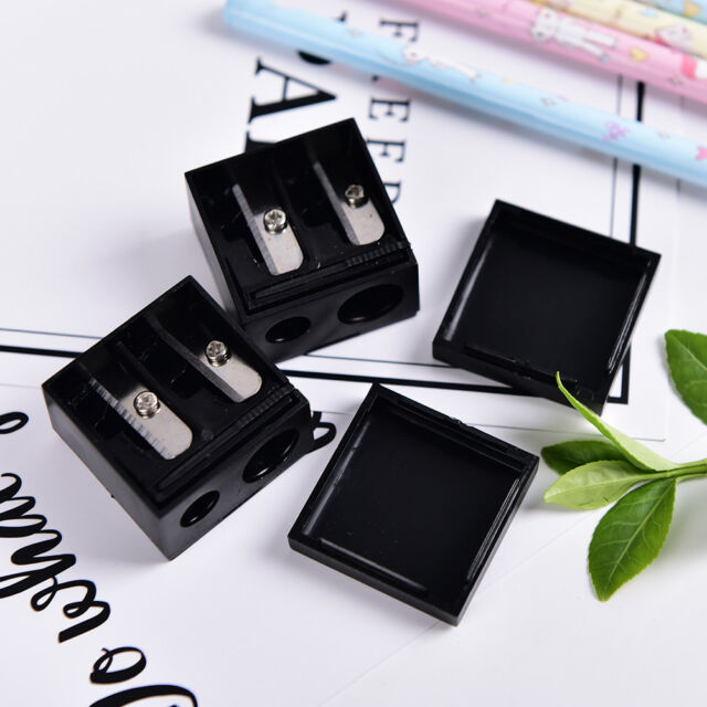 New Precision Cosmetic Pencil 2 Holes Sharpener for Eyebrow Lip Liner Eyeliner:
