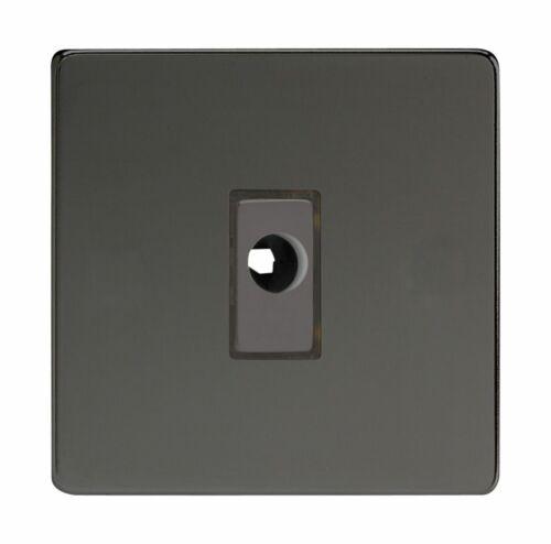 Varilight XDIFODS Screwless Iridium Black 1 Gang 16A Flex Outlet Plate