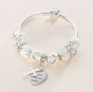 Image Is Loading Engraved First Holy Communion Bracelet S Or Las