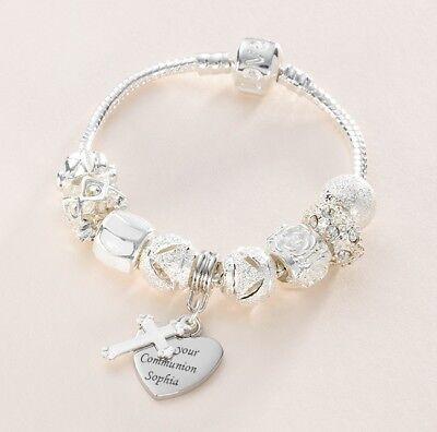 Brazalete con Cruz Plata Con Cristales Damas Regalo Gratis Reino Unido Entrega