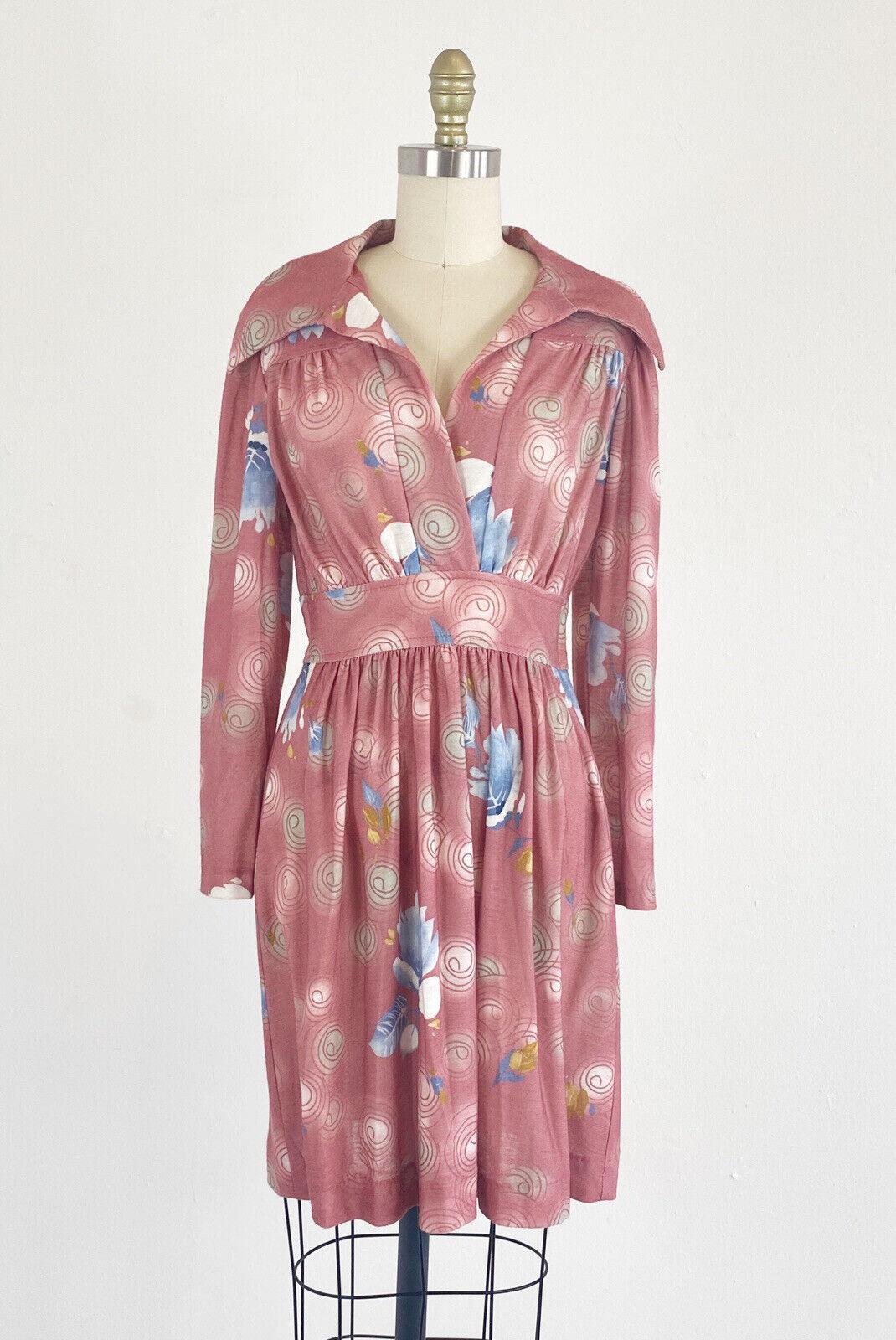 1970s Floral Dress - 1970s Mini Dress - Floral Mi… - image 2