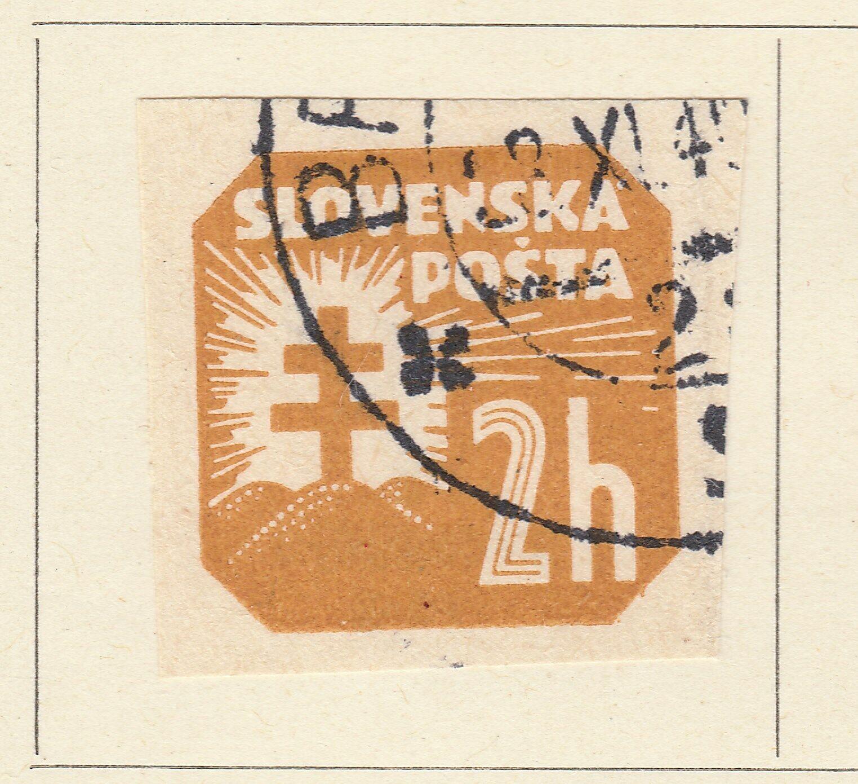 A5P57F185 Slovakia Newspaper Stamp 1939 Unwmk 2h used