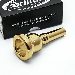 Genuine Schilke 58 Large Shank 24K Gold Trombone Mouthpiece