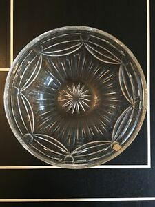 "Glass New Without Tags Beautiful Learned Lead Crystal Cut Bowl 10 3/4"" Diameter Other Bohemian/czech Art Glass"