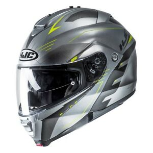 NEU-HJC-Helm-IS-MAX-2-Cormi-silber-neon-gelb-M-57-58-Klapphelm-statt-239-90