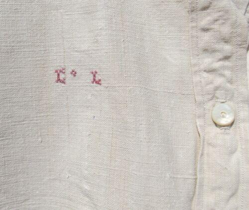 Antique French Smock Hemp Chanvre Linen Tunic Work