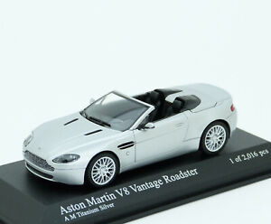 Aston Martin V8 Vantage Roadster 2009 Silber Silver Minichamps 400137430 1 43 Ebay