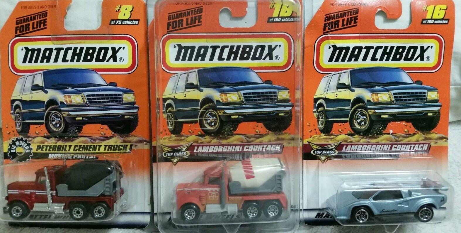 1998 PETERBUILT dans une Lamborghini Carte  XXX erreur  MATCHBOX  de l'usine