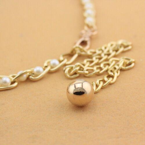 Metal Charm Row Imitation Pearl Beads Waist Chain Ladies Waist Chain Belt New OE