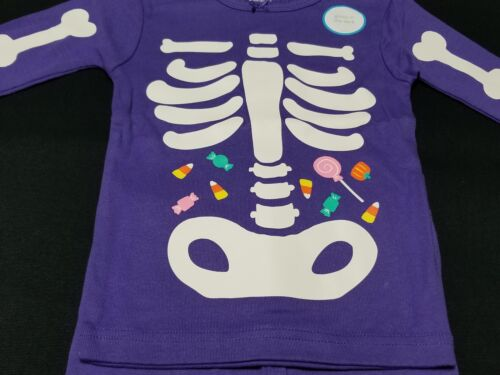 NWT Carter/'s Girl Purple 2 Piece Halloween Pajama PJ Long Sleeve 18 24 months