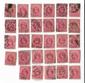 Natal-circa-1904-13-Edward-VII-1d-red-stamps-x-29-Batch-2