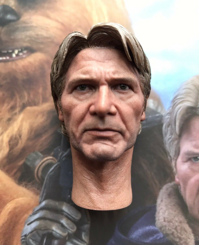 Hot Toys MMS376 Star Wars Han Solo & Chewbacca 1 6 Han Solo Head