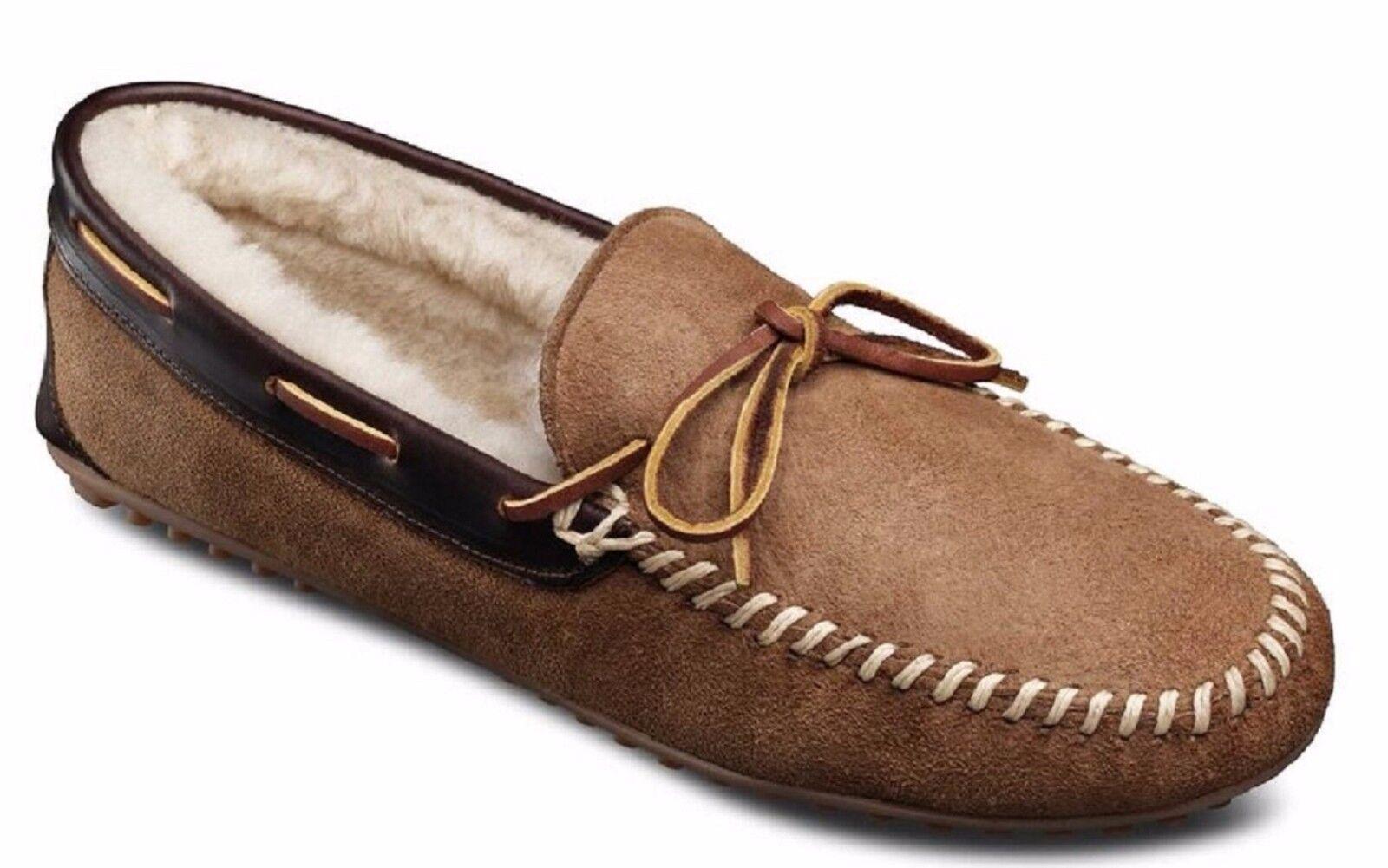 Allen Edmonds Men's Sandman Sheepskin Shearling Slippers Loafers Natural 9 E