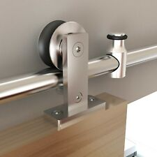 Heavy Duty Stainless Steel Barn Door Hardware Kits For Wood And/or Glass  Doors