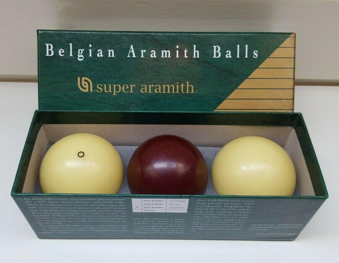 BILLIARD BALLS CAROM BALL SET Super Aramith 61.5 mm BELGIAN BILLIARDS