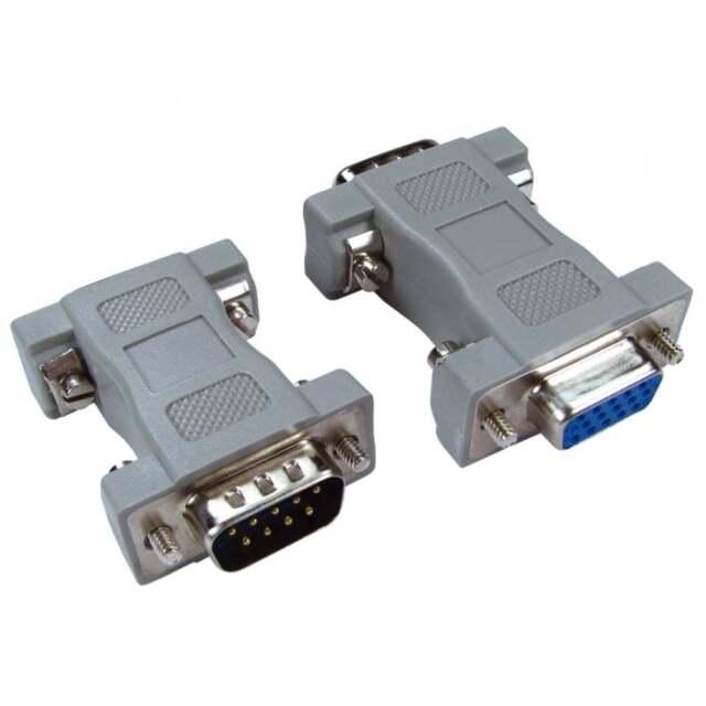 VGA Adapter DB9 Male to DB15 Pin Female Serial  Adapter Converter 9 Pin to15 Pin