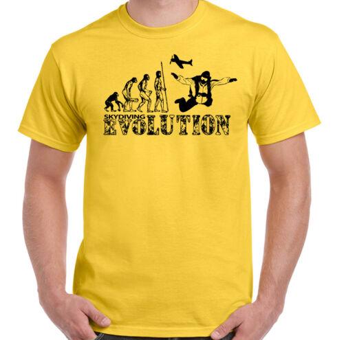 Parachutisme Evolution-Homme Drôle chute libre T-shirt Parachutisme plongeurs Skydive