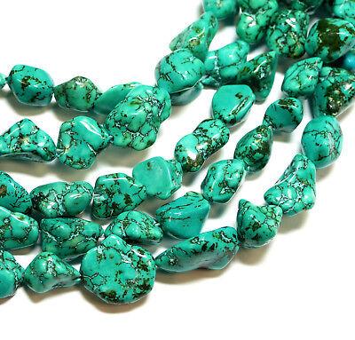 Magnesit Perle Kugel glanz türkis 4-8 mm 1 Strang #4247 BACATUS Edelstein