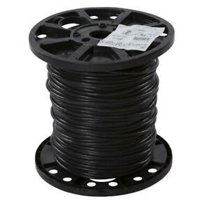 Stranded XHHW Wire Single Conductor Electrical Non Grounded 6 Gauge Black 500ft