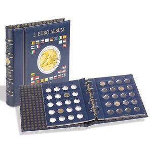 Album-Vista-para-Monedas-de-2-euros-Leuchtturm-Con-CAJETIN-e-incluyendo-hojas